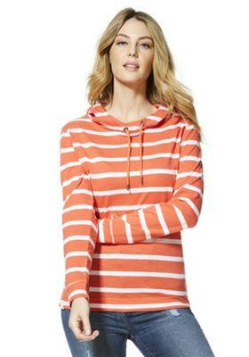 Regatta Modesta Striped Hoodie Neon Peach 20