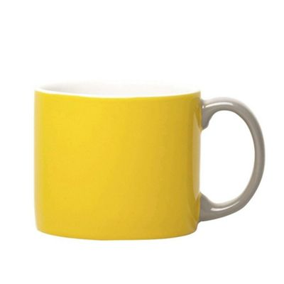 Jansen Mix and Match Ceramic Espresso Cup in Yellow with Grey Handle JC1132