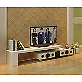 White High Gloss TV Stand & Built-In Bluetooth Speakers