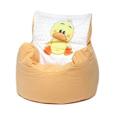 Yellow Duck Childrens Character Micro Suede Bean Bag Chair