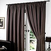 "Dreamscene Pair Thermal Blackout Pencil Pleat Curtains, Chocolate - 46"" x 72"" (116x182cm)"