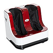 Homcom Portable Vibration Heating Electric Kneading Foot Massager (Red)
