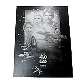 """""""Star Wars Personalised Limited Edition 40th Anniversary Foil Print (12x16"""""""") - Film Poster"""""""