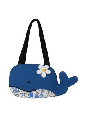 Whale At Sea Blue Shoulder Bag