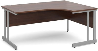 DSK Momento 1600mm Right Hand Ergonomic Desk - Walnut