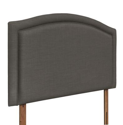 Swanglen Paris Gem Fabric Headboard with Wooden Struts - Slate - Single 3ft