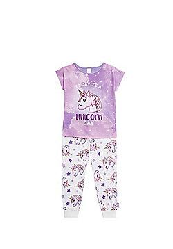 Emoji Today Is A Unicorn Day Pyjamas - Purple