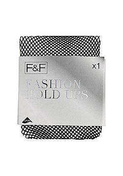 F&F Fishnet Hold-Ups - Black