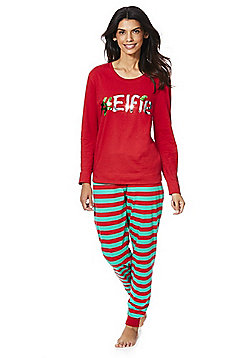 F&F #Elfie Christmas Pyjamas - Red