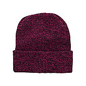Antique Fuschia Heritage Dark Pink Beanie - Pink