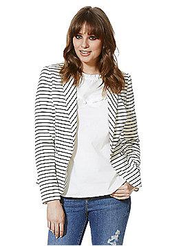 F&F Striped Jersey Jacket - White & Black