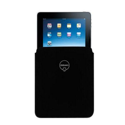 Ozaki iCoat Velvet iPad Sleeve Black -Green Stitching