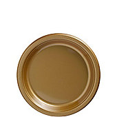 Gold Dessert Plates - 17cm Plastic Party Plates - 20 Pack