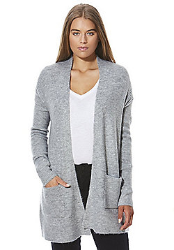 F&F Ribbed Side Long Line Cardigan - Grey