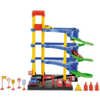 Toyrific 18 Piece Car Park Garage Toy Play Set With Accessories