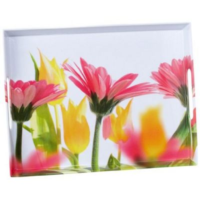 EMSA Serving Tray with Handles, Summer Flowers Print, 40 x 37cm