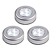 Set of 3 Battery Operated LED Push Lights