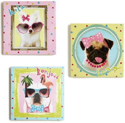 Hall Of Fame Dogs Canvas Art - Set of 3