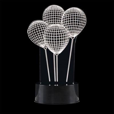 Battery Operated Novelty 3D Balloon Illusion LED Table Lamp