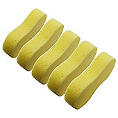 Large Yellow Multipurpose Car / Household Cleaning Sponge - Pack of 5