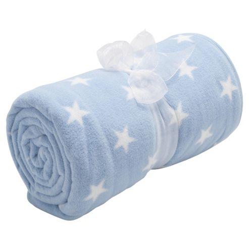 Tesco Loves Baby Fleece Blanket - Stars