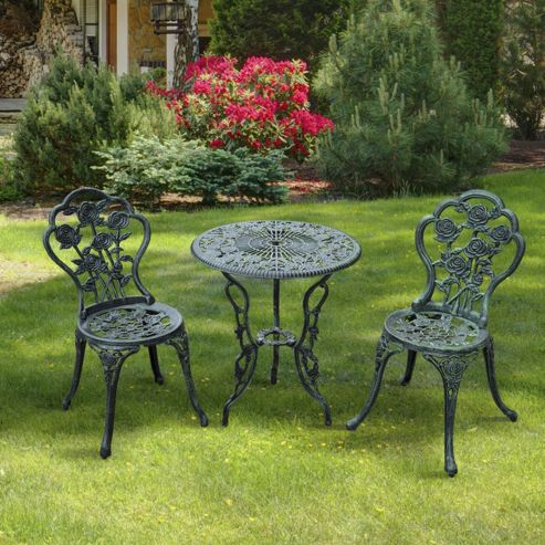 Buy Outsunny 3pc Bistro Set Table Chairs Patio Seat