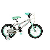"Falcon Superlite 14"" Girls Bike with Stabilisers"