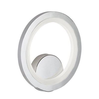 LED RING WALL BRACKET, CHROME, FROSTED ACRYLIC