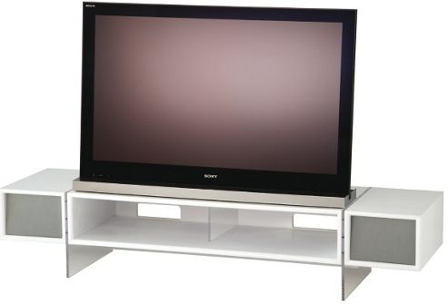 Alphason Yatai Series White TV Stand For Up To 55 inch