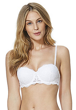 F&F Signature Rae Lace Balcony Bra - White