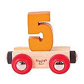 Bigjigs Rail Rail Name Number 5 (Orange)