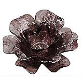 Copper Flower Tealight Holder