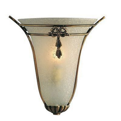 WALL LIGHT - HALF WALL WASHER ANTIQUE/SCAVO GLASS