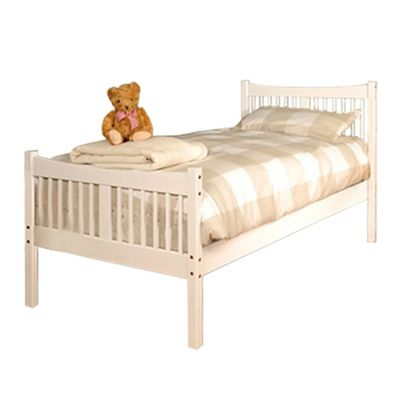 Comfy Living 3ft Single Farmhouse JD shaker in White with 1000 Pocket Comfort Mattress