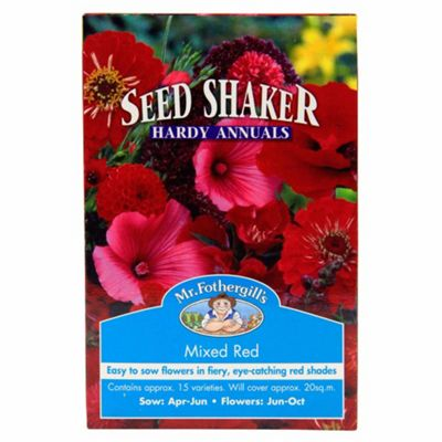 Mr Fothergill's Mixed Red Hardy Annual Flower Seed Shaker Box