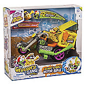 Grossery Gang Delivery Strike Motor Bike Playset