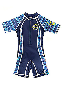 Jakabel Kids UV All in One Sunsuit   Aztec Blue - Blue