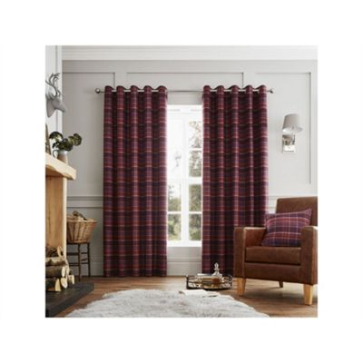 Curtina Cameron Purple Eyelet Curtains - 66x90 Inches (168x229cm)