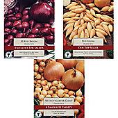 150 x Onion Sets - 3 Varieties - Vegetable Bulbs