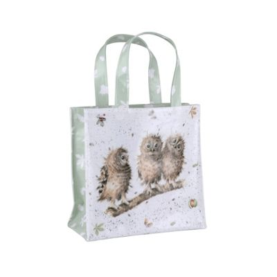 Wrendale Designs Small Tote Style Bag, 25x25x10cm, Owl Design