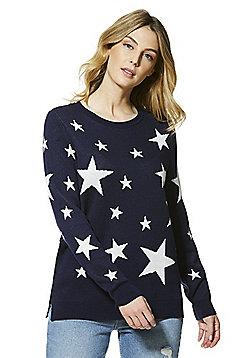 F&F Star Pattern Jumper - Navy & White