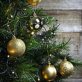 12pcs 6cm Shatterproof Gold Christmas Tree Bauble Decorations