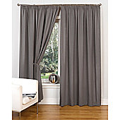 Hamilton McBride Canvas Unlined Pencil Pleat Curtains - Grey