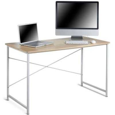 VonHaus Computer Desk – Large Wood-Effect Surface With Strong Metal Frame