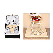 Pipsy Koala BUNDLE On the Go Booster Seat & Highchair Splash Mat 90 x 90