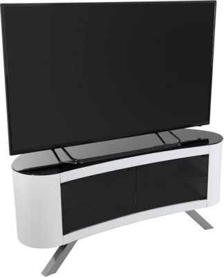 AVF Bay Curved TV Stand For up to 55 inch TVs - White