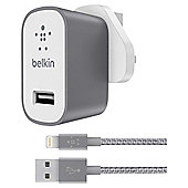 Belkin MIXIT†' Universal Home Charger with Lightning Cable space grey