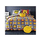 Emoji Expressions Single Duvet Cover and Pillowcase Set