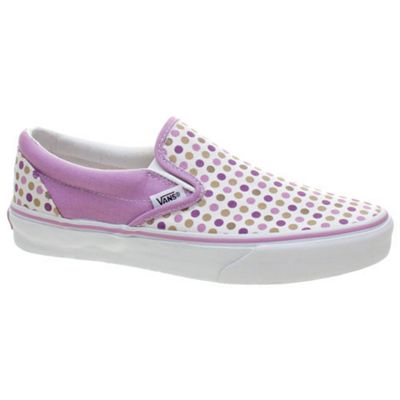 Vans Classic Slip On (Polka Dots) Lavender Mist/Grape Jam Shoe EYEAZA