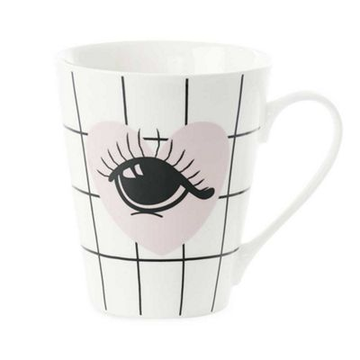 Miss Etoile Mug Bone China Heart and Eyes